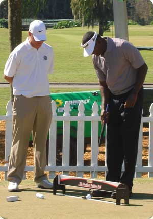 Chad Johansen with Vijay Singh