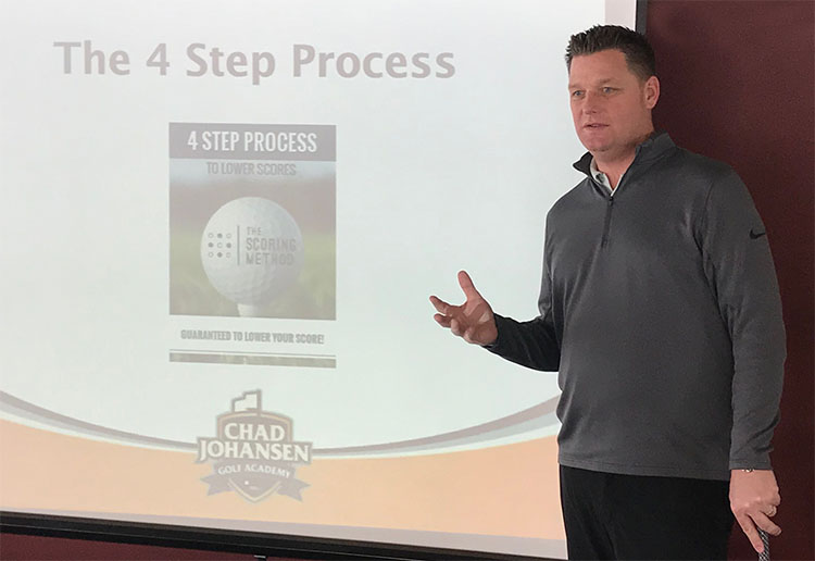 Chad Johansen teaching the 4 Step Process to Lower Scores