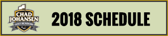 CJGA Fall Junior League Golf - 2018 Schedule