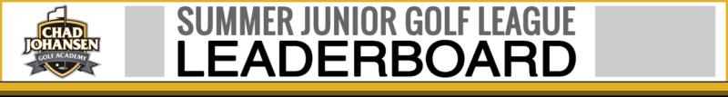CJGA Summer Junior Golf League Leaderboard