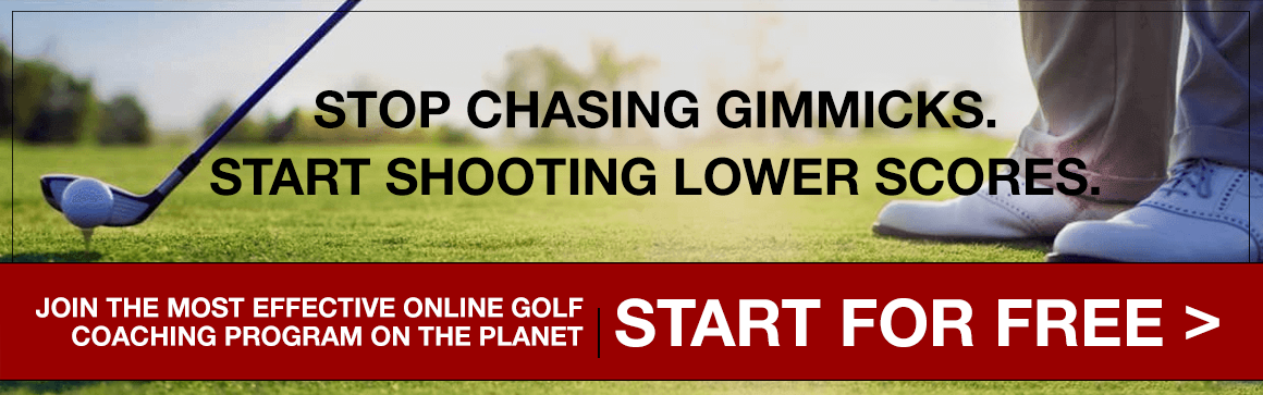 Stop chasing gimmicks. Start shooting lower scores. 4StepProcess